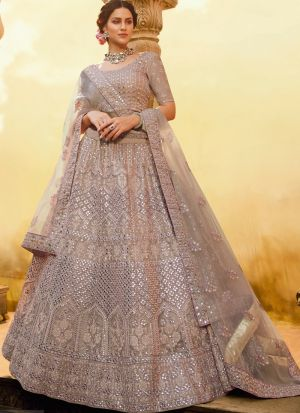 New Arrival Onion Crepe Mirror Work Lehenga Choli