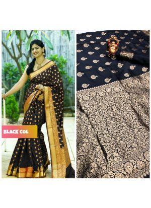 New Collection Black Banarasi Saree