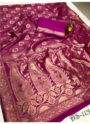 New Collection Purple Banarasi Saree