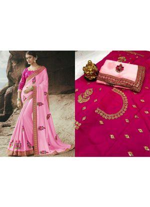 New Collection Rangoli Light Pink Designer Saree