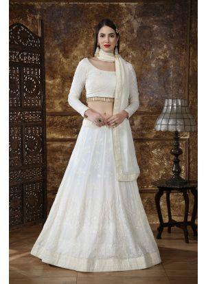 New Fancy Traditional Off White Color Lehenga Choli