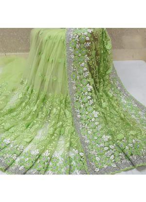 New Launching Heavy Naylon Net Pista Traditional Designer Saree