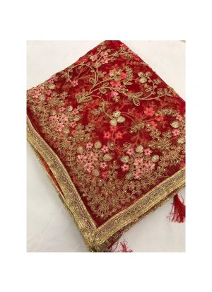 New Launching Heavy Net Red Traditional Designer Saree