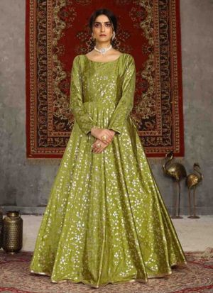 Newly Launched Fluorescent Taffeta Gown