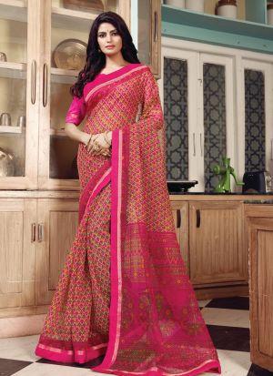 Outstanding Pink Color Kota Classic Designer Saree