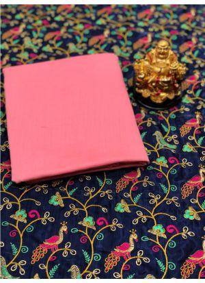 Paithani Pashmina Silk Pink Saree
