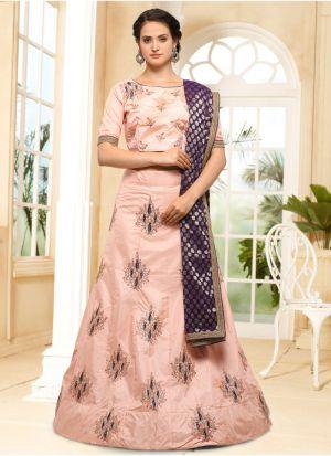 Peach Color Designer Lehenga Choli For Wedding