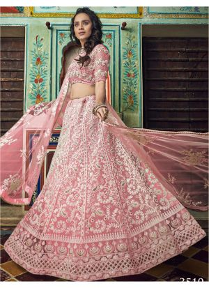 Peach Soft Net Designer New Arrival Lehenga Choli