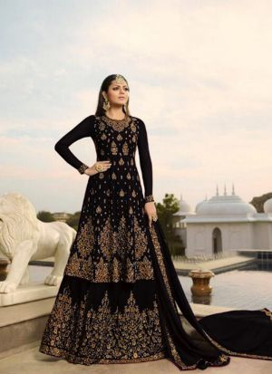 Perfect Embroidered Georgette Salwar Suit