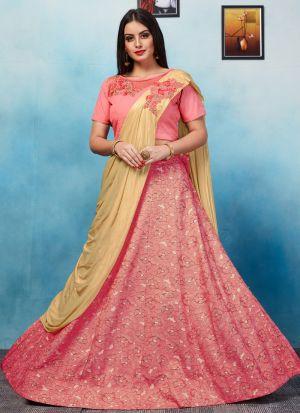 Pink Designer Exclusive Bridal Lehenga Choli