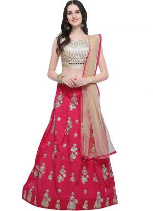 Pink Designer Lehenga Choli For Wedding