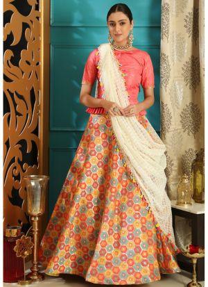 Pink Latest Indian Designer Lehenga Choli For Engagement Party
