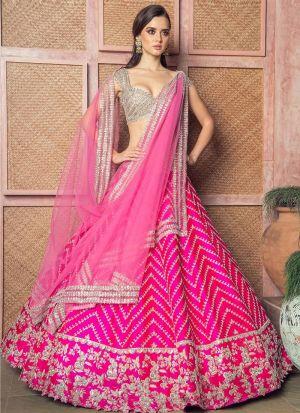 Pleasant Pink Multy Work Lehenga Choli