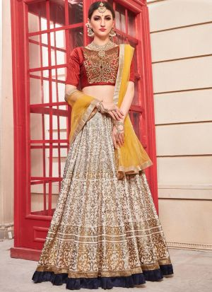 Powder Pink Party Wear Designer Bridal Lehenga Choli With Bridal Net Dupatta