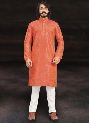 Pure Art Silk Kurta With Cotton Pajama