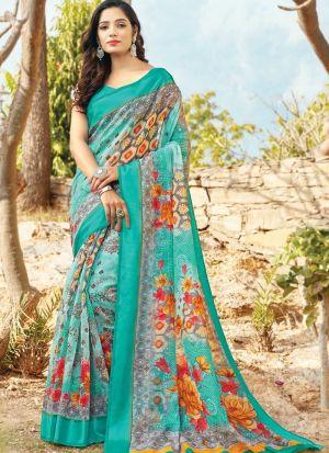 Rama Traditional South Indian Wedding Cotton Saree