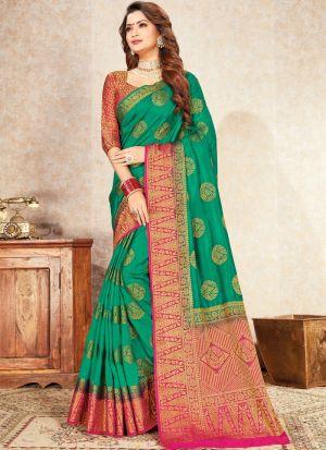 Rama Trendy Naylon Silk Saree For Engagement