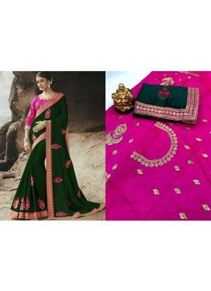 Rangoli Green Designer Traditional Saree