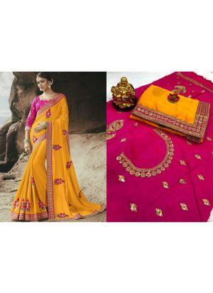 Rangoli Yellow Designer Traditional Saree