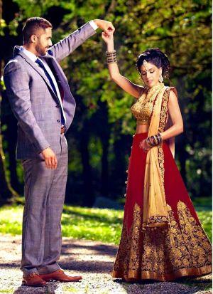 Red Banglori Silk Wedding Wear Indian Designer Bridal Lehenga Collection