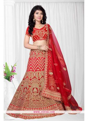 Red Bridal Designer Chaniya Choli