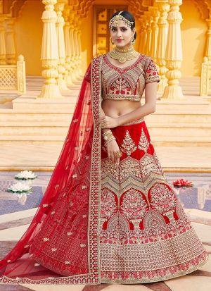 Red Bridal Special Lehenga Choli