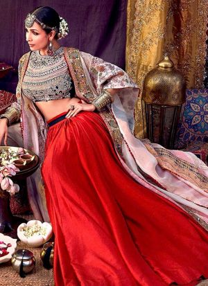 Red Lehenga With Heavy Sequence Work Blouse