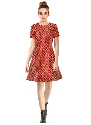 Red Party Wear Dresses For Womens