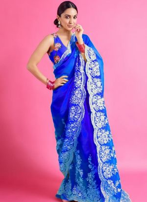 Royal Blue Bollywood Style Saree