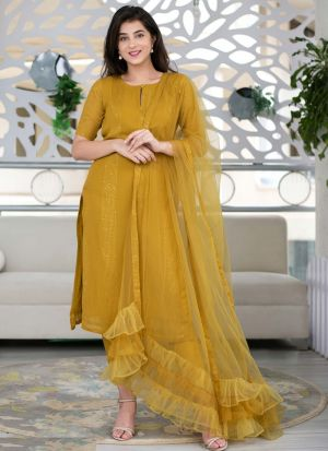 Shaurya Sanadhya Mustard Yellow Salwar Suit