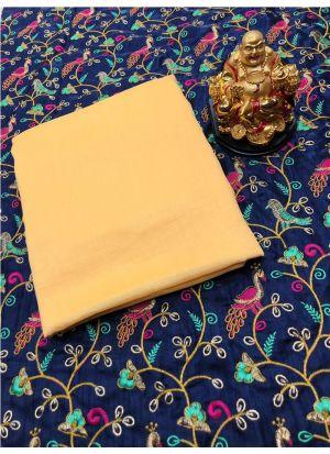 Traditional Lemon Yellow Wedding Wear Pashmina Silk