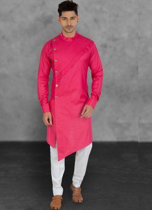 Traditional Pink Kurta With Cotton Pant