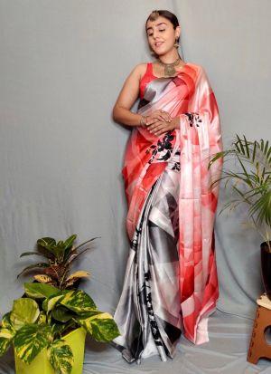Trendy Multi Color Digital Printed Saree