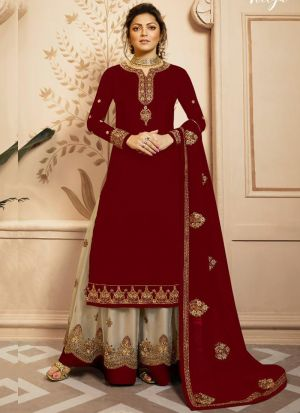 Wedding Style Cream Embroidered Lehenga With Designer Kurti