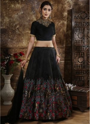 Wonderfull Black Traditional Designer Lehenga Choli