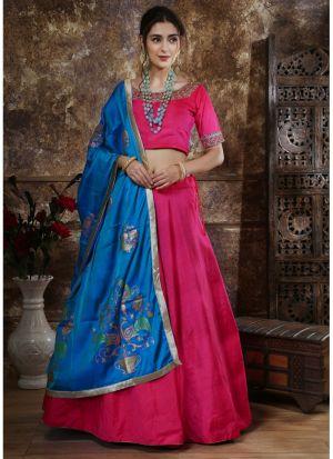 Wonderfull Pink Traditional Designer Lehenga Choli