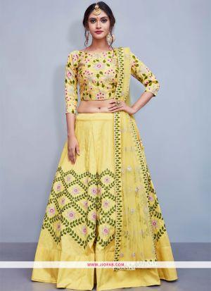 Yellow Latest Indian Designer Lehenga Choli For Engagement Party