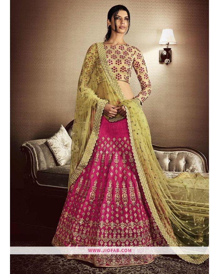 33141e96f40 KT 2079 Pink Party Multy Work Wedding Lehenga Choli