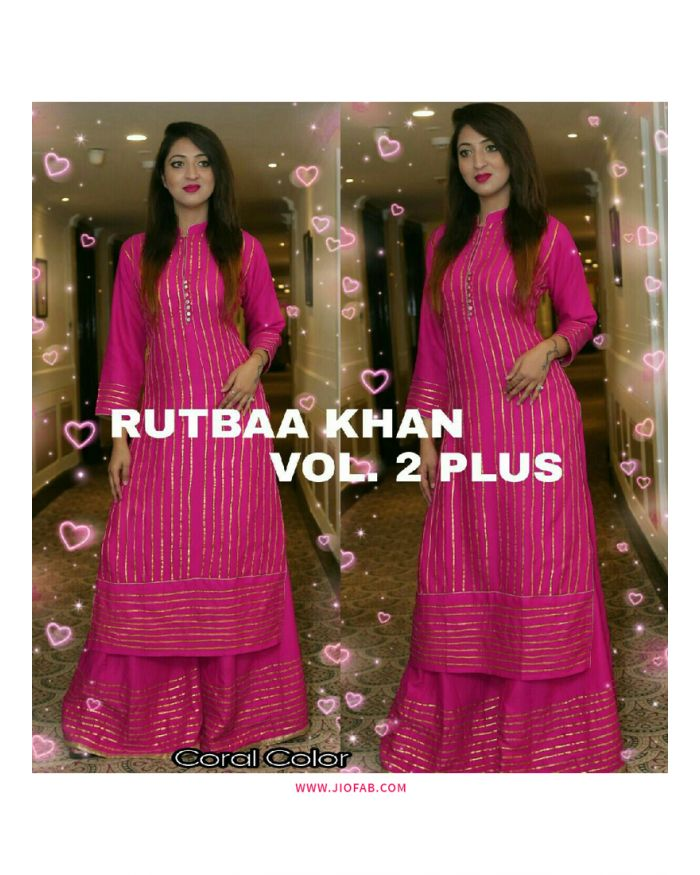 a6f221718e Online Purchase Rutba Khan vol 2 Plus Women Suit With Palazzo
