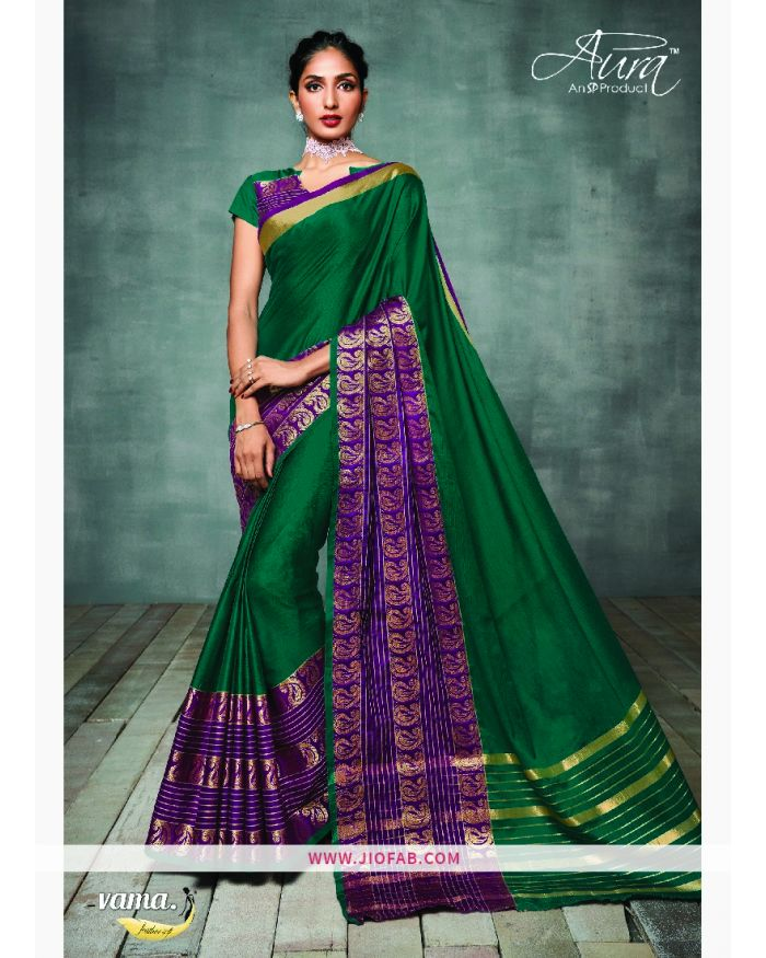 31cbbf4e4 Buy Vama High Spirit Aura Cotton Silk Saree Online - High Spirit - Aura