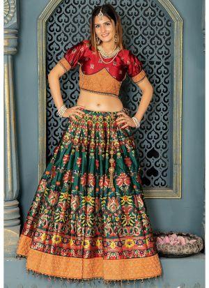 Banarasi Silk Lehenga Choli In Cream Colour