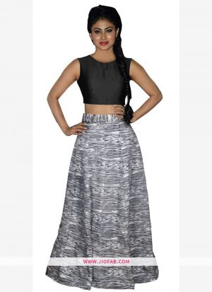 Banglori Silk Black Anarkali Lehenga