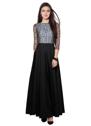 Black And White Maxi Dress For Women