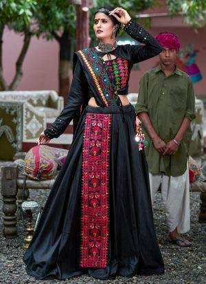 Black Color Chaniya Choli For Navratri