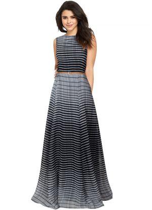 Black Color Maxi Dress For Women