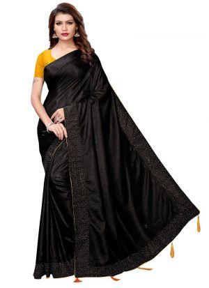 Black Color Special Saree Collection For Rakhi Festival