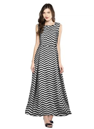 Black Solid Long Maxi Dress