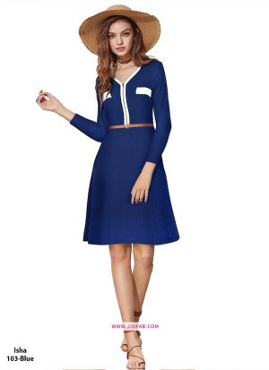 Blue Color Us Polo Imported Western Wear Dress