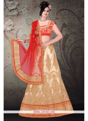 Bridal Chiku Heavy Net Chaniya Choli