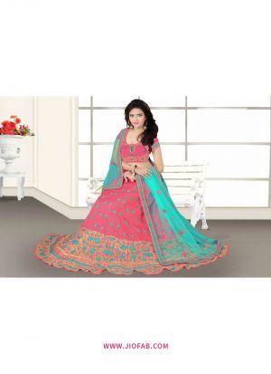 Bridal Pink Designer Anarkali Lehenga